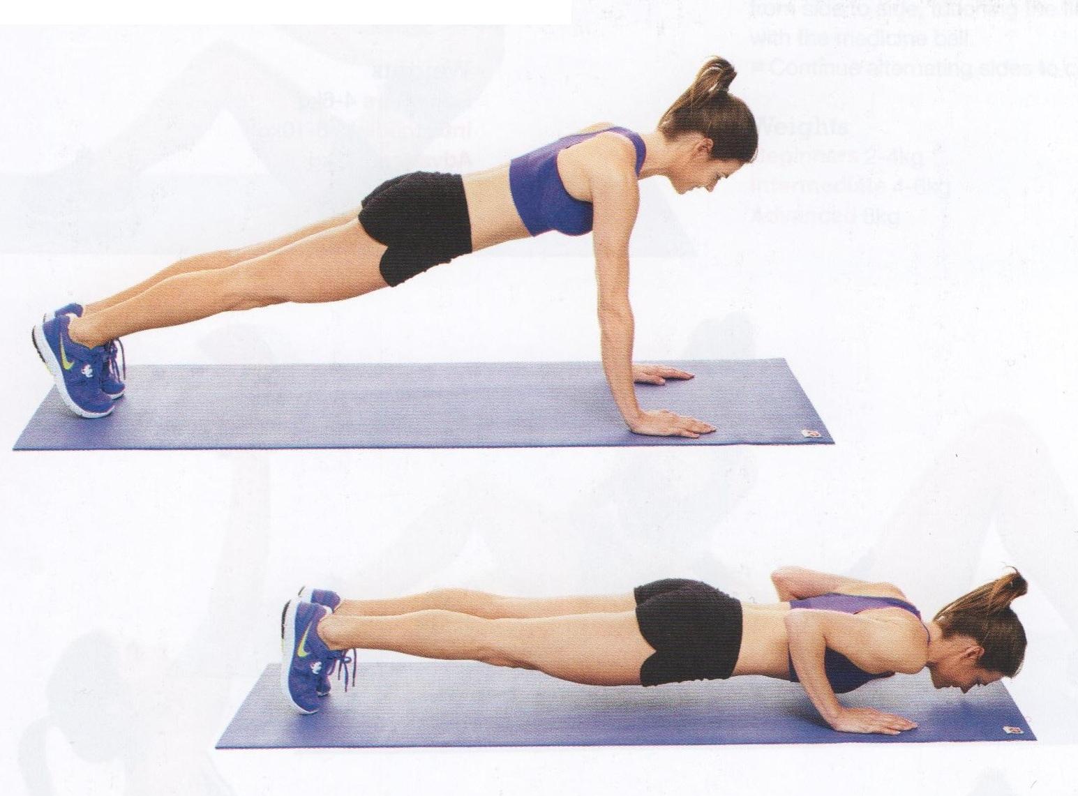 ejercicios para tonificar los pechos