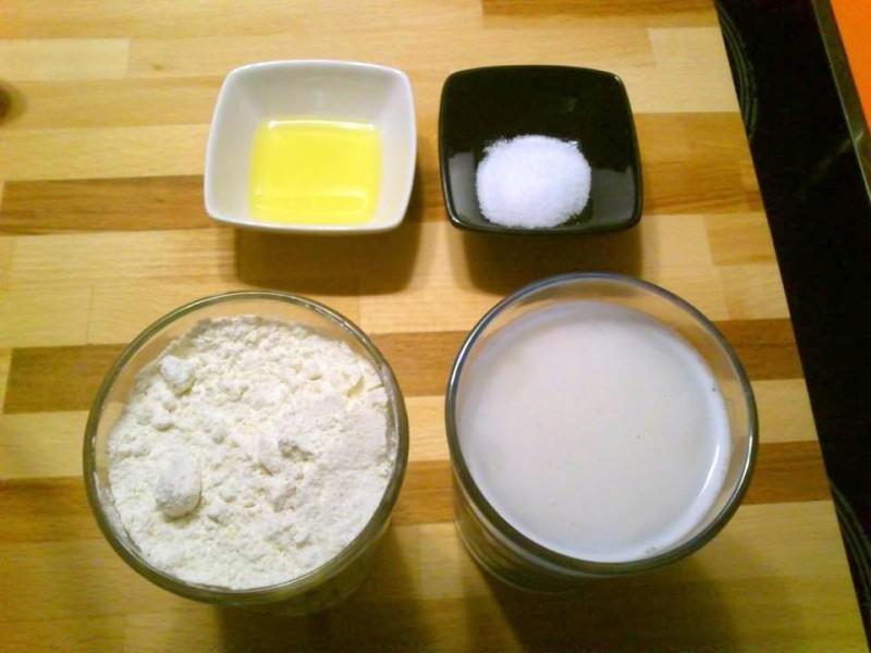 Ingredientes para pizza baja en calorías