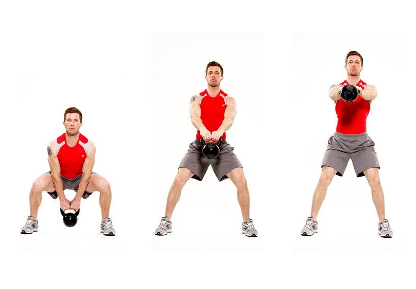 rutina de ejercicios con kettlebells