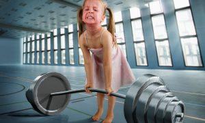 Los niños y las pesas