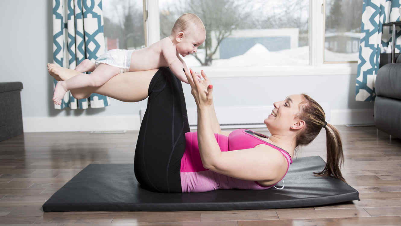 ejercicios con tu bebé
