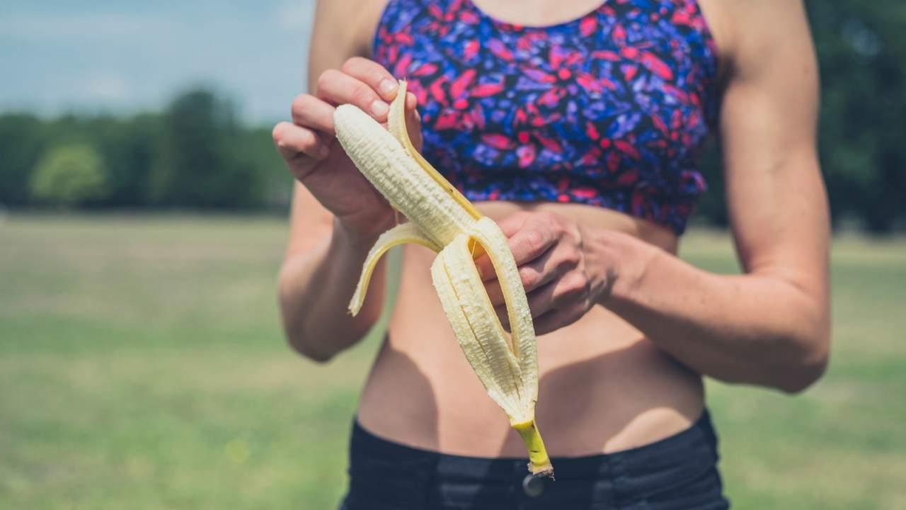 plátano en deportistas