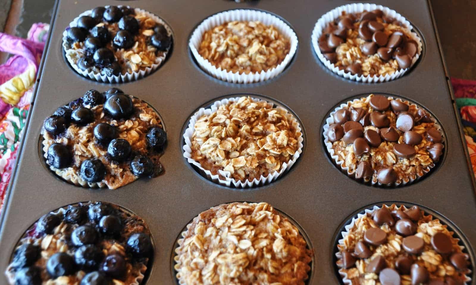 Cupcakes de avena