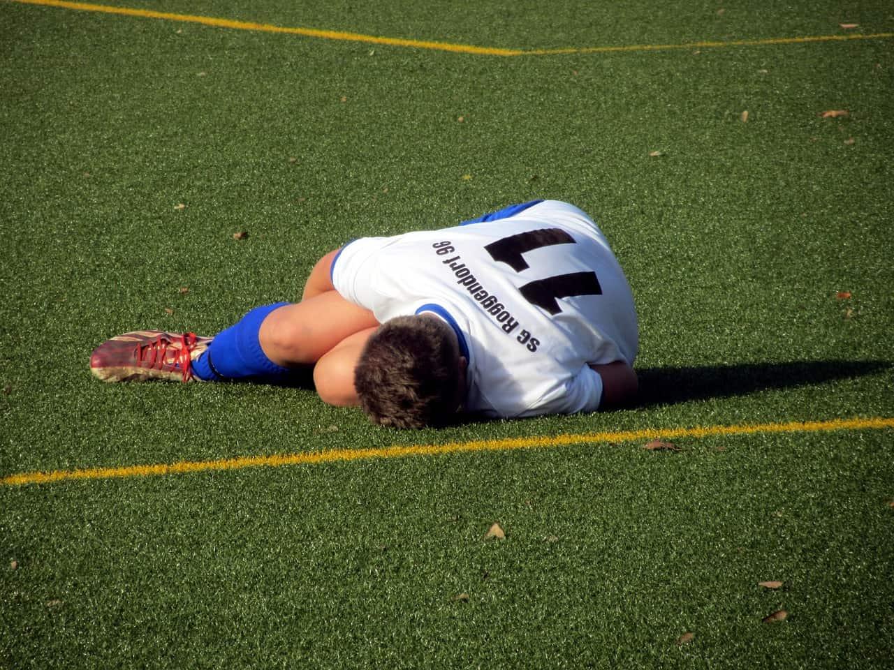 lesión futbolista