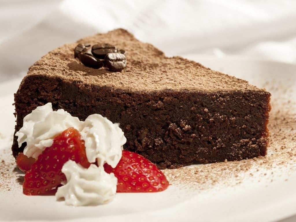 Torta de chocolate con cafe