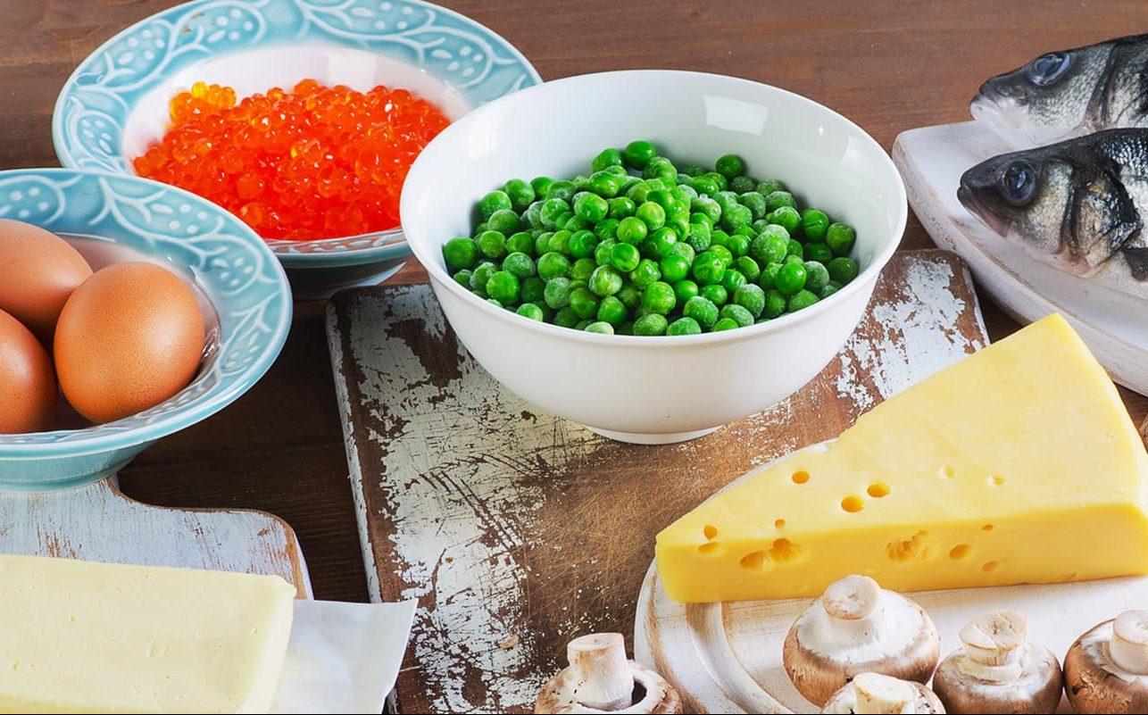 vitamina D presente en los alimentos