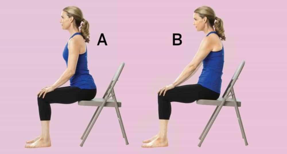Chair yogar en la oficina - Circulos de cadera