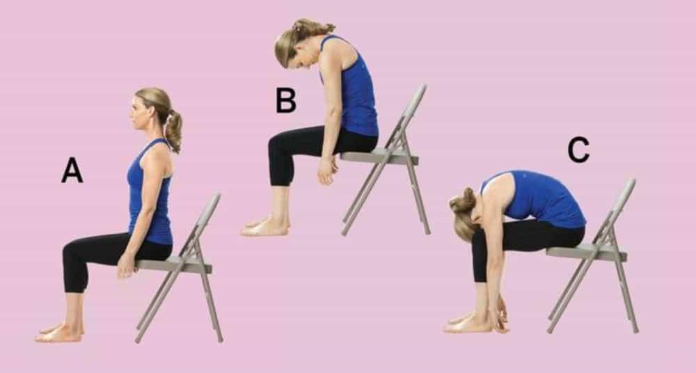 Chair yoga en la oficina - Roll down