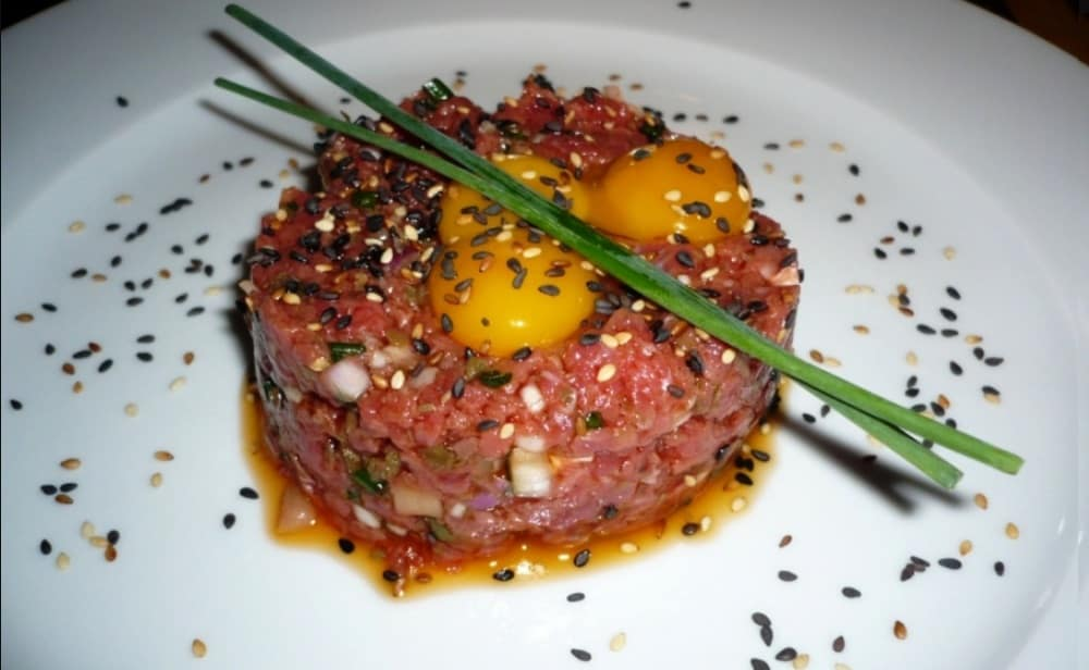 Menú navideño saludable steak tartar