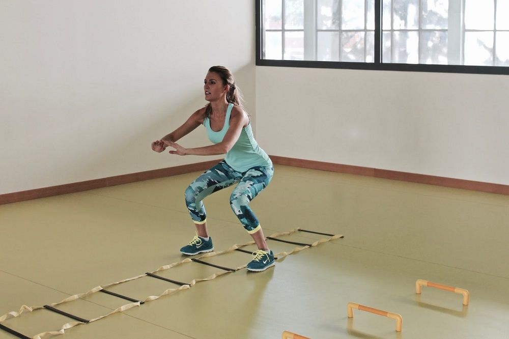 ejercicios con escalera de agilidad