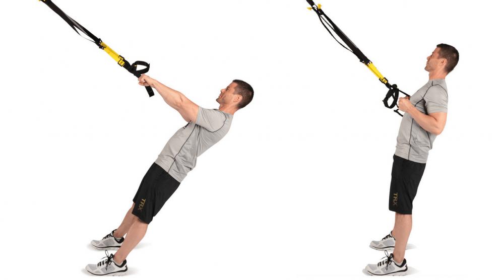Balance o remo con TRX