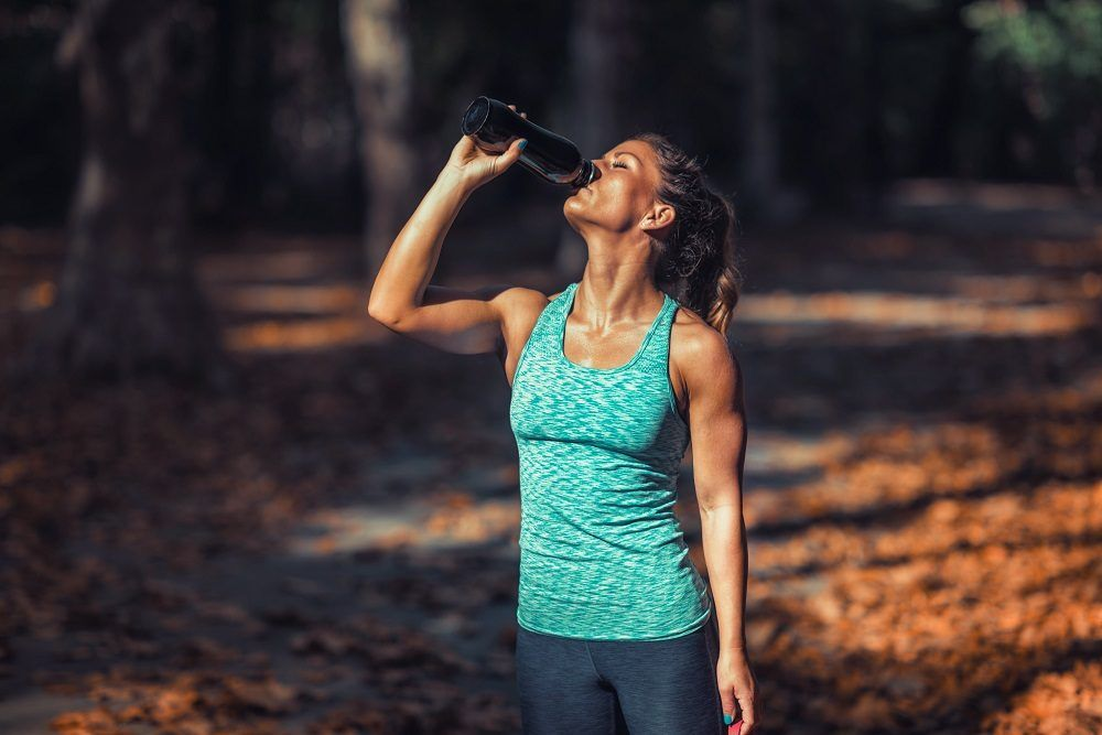 Beber mucho agua