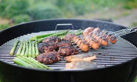 Hamburguesas para cocinar en una barbacoa saludable