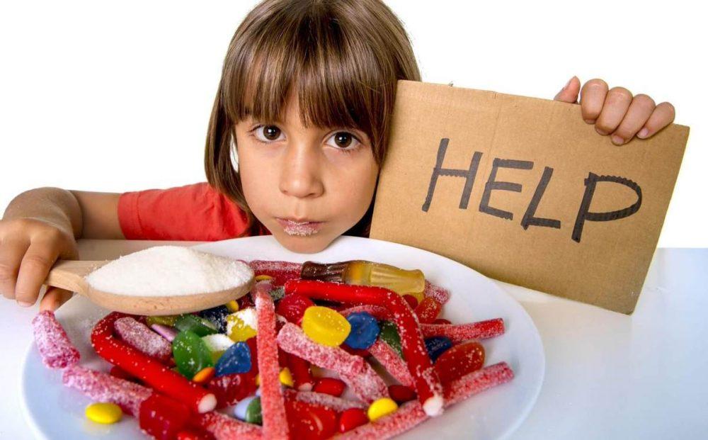 azúcar en niños